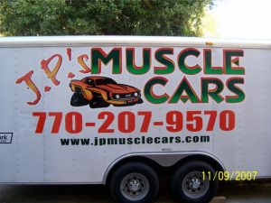 JP Muscle Cars Lettered Trailer